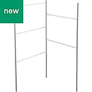 GoodHome Koros Freestanding Silver Effect Chrome Plated Towel rail, (W)470mm