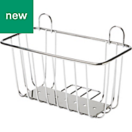 GoodHome Koros Silver Effect Chrome Plated Steel Wire Basket