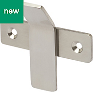 GoodHome Amantea Brushed Silver Effect Stainless Steel Hook