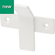 GoodHome Amantea White Stainless steel Hook