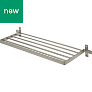 Amantea Brushed Silver Effect Shelf (L)600mm (D)200mm