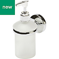 GoodHome Ormara Silver Effect Chrome Plated Wall mounted Soap dispenser