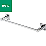 GoodHome Alessano Wall mounted Chrome Plated Towel rail, (W)435mm