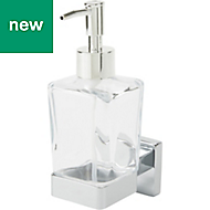 GoodHome Alessano Silver Effect Chrome Plated Wall mounted Soap Dispenser