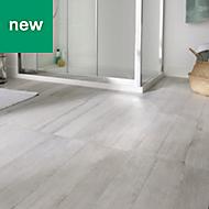 Norwegio Grey Matt Wood effect Ceramic Floor tile, Pack of 9, (L)573mm (W)322mm
