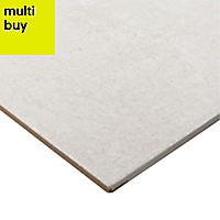 Metal ID Light grey Matt Concrete effect Porcelain Floor tile, Pack of 6, (L)600mm (W)300mm
