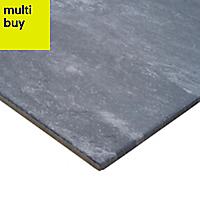 Shaded Slate Anthracite Matt Stone effect Porcelain Floor tile, Pack of 6, (L)600mm (W)300mm