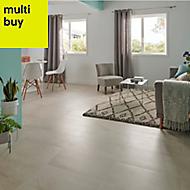 Palemon Ivory Matt Stone effect Porcelain Floor tile, Pack of 6, (L)610mm (W)305mm