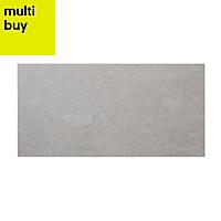 Slate Light grey Matt Stone effect Porcelain Floor tile, Pack of 6, (L)590mm (W)290mm