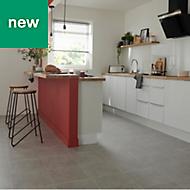 Ideal Grey Matt Marble effect Ceramic Floor tile, Pack of 13, (L)338mm (W)338mm
