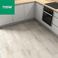Norwegio Beige Matt Wood effect Ceramic Floor tile, Pack of 9, (L)573mm (W)322mm