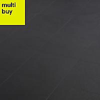 Hydrolic Black Matt Porcelain Floor tile, Pack of 25, (L)200mm (W)200mm
