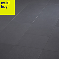 Hydrolic Anthracite Matt Concrete Porcelain Floor tile, Pack of 25, (L)200mm (W)200mm