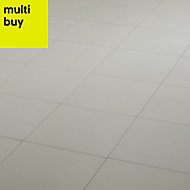 Hydrolic White Matt Concrete Porcelain Floor tile, Pack of 25, (L)200mm (W)200mm