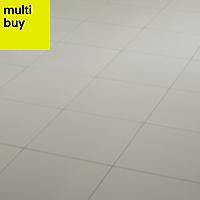 Hydrolic White Matt Concrete Porcelain Floor tile, Pack of 25, (L)200mm (W)200mm