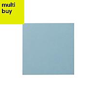 Hydrolic Light blue Matt Concrete Porcelain Floor tile, Pack of 25, (L)200mm (W)200mm
