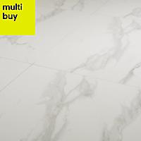Ultimate white Matt Marble effect Porcelain Floor tile, Pack of 3, (L)600mm (W)600mm