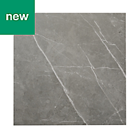 Ultimate Grey Matt Marble effect Porcelain Floor tile, Pack of 3, (L)595mm (W)595mm
