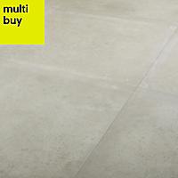 Kontainer Greige Matt Concrete effect Porcelain Floor tile, Pack of 3, (L)590mm (W)590mm
