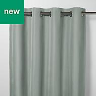 Klama Blue grey Plain Blackout Eyelet Curtain (W)167cm (L)183cm, Single