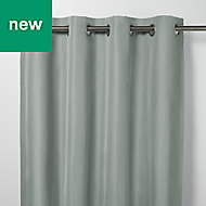 Klama Blue grey Plain Blackout Eyelet Curtain (W)167cm (L)228cm, Single