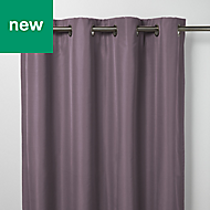 Klama Light purple Plain Blackout Eyelet Curtain (W)167cm (L)183cm, Single