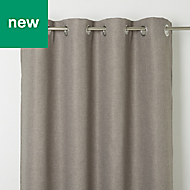 Kosti Grey Plain Blackout Eyelet Curtain (W)167cm (L)228cm, Single