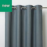 Digga Blue Diamond Unlined Eyelet Curtain (W)117cm (L)137cm, Single