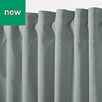 Klama Blue grey Plain Unlined Pencil pleat Curtain (W)167cm (L)183cm, Single