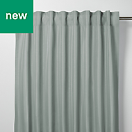 Klama Blue grey Plain Unlined Pencil pleat Curtain (W)167cm (L)228cm, Single