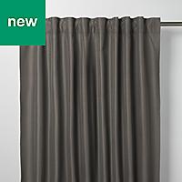 Klama Dark grey Plain Unlined Pencil pleat Curtain (W)167cm (L)183cm, Single