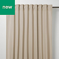 Klama Light brown Plain Unlined Pencil pleat Curtain (W)167cm (L)228cm, Single