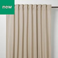 Klama Light brown Plain Unlined Pencil pleat Curtain (W)167cm (L)228cm, Single