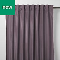 Klama Light purple Plain Unlined Pencil pleat Curtain (W)117cm (L)137cm, Single