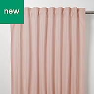 Klama Pink Plain Unlined Pencil pleat Curtain (W)167cm (L)228cm, Single