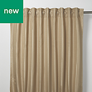 Mandlay Beige Spotted stripe Unlined Pencil pleat Curtain (W)167cm (L)228cm, Single