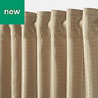 Mandlay Beige Spotted stripe Unlined Pencil pleat Curtain (W)167cm (L)228cm, Single