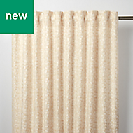 Mulgrave Beige Floral Unlined Pencil pleat Curtain (W)167cm (L)228cm, Single
