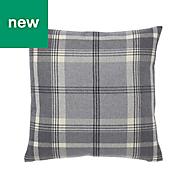 Podor Check Grey Cushion