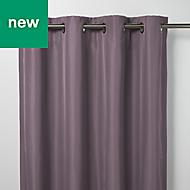 Klama Light purple Plain Blackout Eyelet Curtain (W)140cm (L)260cm, Single
