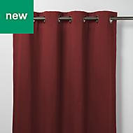 Vestris Red Plain Blackout Eyelet Curtain (W)140cm (L)260cm, Single