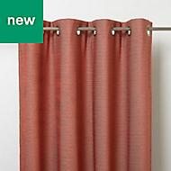 Digga Red Diamond Unlined Eyelet Curtain (W)140cm (L)260cm, Single