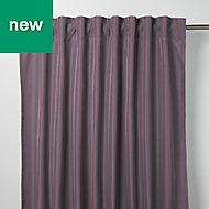 Klama Light purple Plain Unlined Pencil pleat Curtain (W)140cm (L)260cm, Single