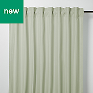 Klama Blue & green Plain Unlined Pencil pleat Curtain (W)140cm (L)260cm, Single