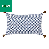 Campton Geometric Blue & white Cushion