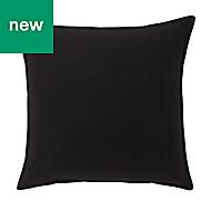 Hiva Plain Black Cushion