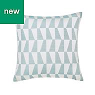 Lindi Geometric Green & white Cushion