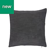 Pahea Chenille Dark grey Cushion
