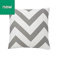 Wabana Herringbone Grey & white Cushion