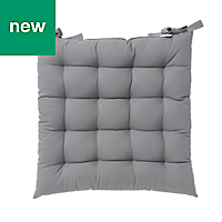 Hiva Grey Plain Seat pad